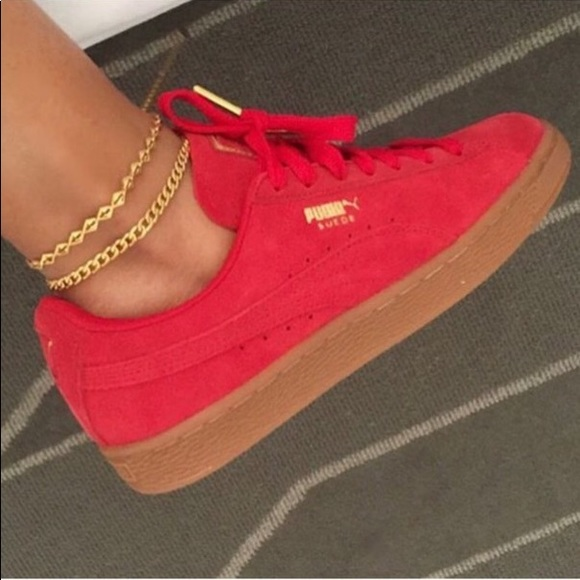 puma new red shoes